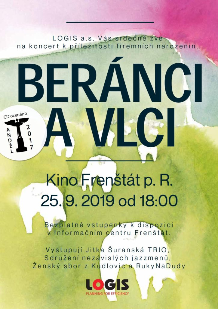 Plakát ke koncertu 25. 9. 2019